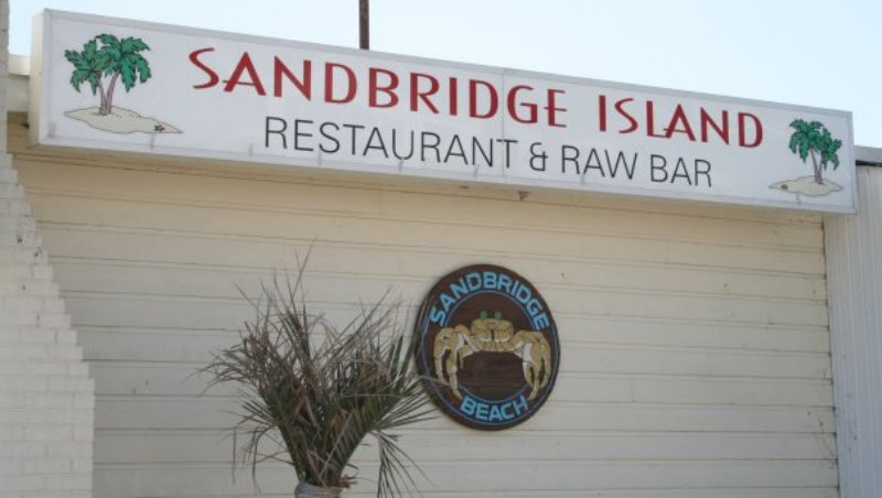 Sandbridge Island Restaurant Sign